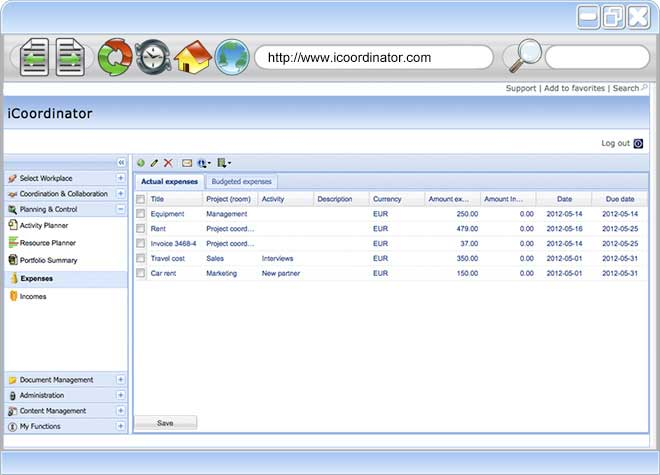 Free Project Management Software - Cost Management